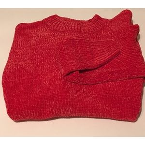 Jill Marie Boutique Sweaters - Oversized chenille sweater red S, M, L, XL NWT